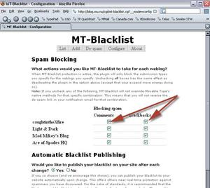 Blacklist block screenshot